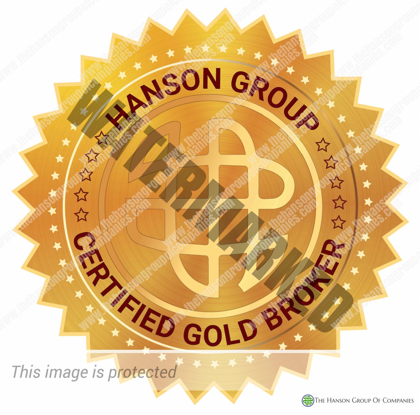 Hanson Group Gold Broker Seal